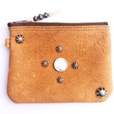 BRAIN TAN DEER LEATHER POUCH