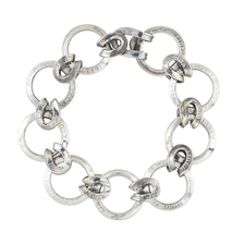 E-025  10¢ ring & horseshoe knot chain Bracelet
